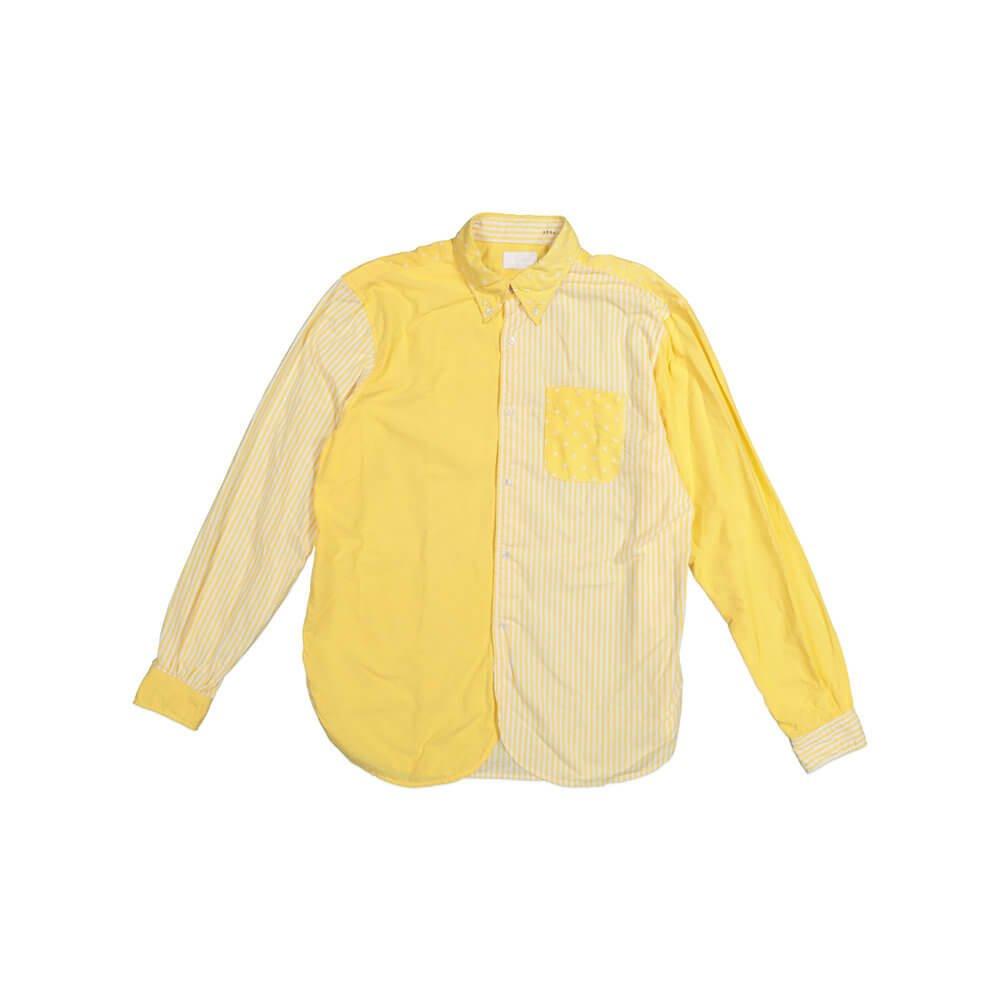 Mens Dress Shirt Multicoloured Pattern Flat Lay Photograph